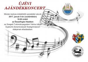 ujevi ajandek koncert