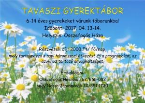 tavaszi gyerektábor plakát